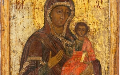 AN ICON SHOWING THE SMOLENSKAYA MOTHER OF GOD Russian, 18th...