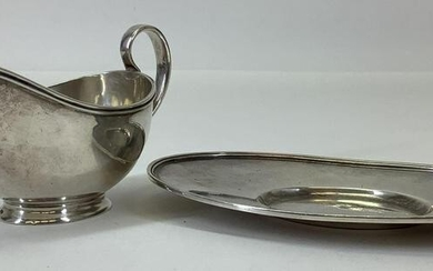 Arthur Stone Sterling Silver Sauce Boat