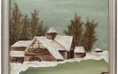 Artist Unknown (Early 20th Century) Winter Homestead.