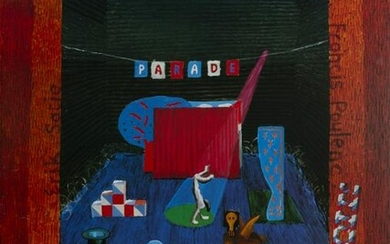 David Hockney, The Set For the Parade, Poster on
