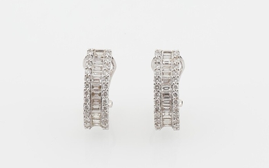Diamant Ohrclips zus. ca. 2,15 ct