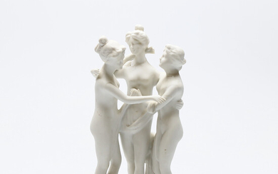 FIGURE, parian, early 20th century.