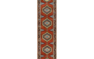 Hand Knotted Brick Red Persian Viss Design Soft Wool