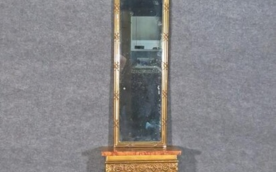 LOUIS XVI STYLE MARBLE TOP CONSOLE & MIRROR