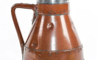 Large Doulton Lambeth Copper Ware Jug