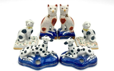 Lot of Small Staffordshire Figures, Modern