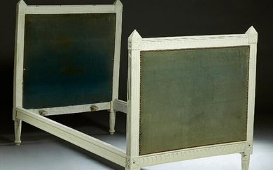 Louis XVI Style Bed, 20th c., the stepped crest rail to