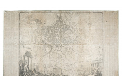 NOLLI, Giambattista (c.1692-1756) - La nuova topografia di Roma. Roma: 1748. Nolli's famous map of Rome is considered one of the masterpieces of urban cartography. Fundamental for the study of Roman cartography, it remained a model for all the maps...