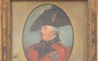 Portrait miniature of George IV, head and shoulders wearing ...