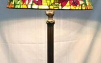 Tiffany Style Stained Glass Bronze Floor Lamp