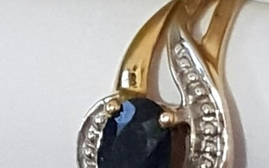 18 kt. Yellow gold - Ring - 0.50 ct Sapphire - Sapphire