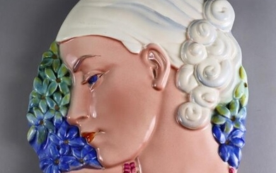A Beswick Pottery 'Hyacinth Lady' Wall Plaque, Introduced 1936,...