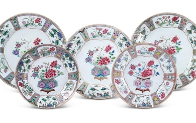 A CHINESE FAMILLE ROSE PART SERVICE, QIANLONG