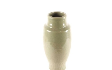 A Chinese Longquan celadon porcelain inverted baluster vase....