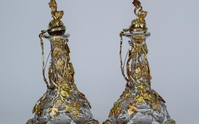 A Pair of Late 20th Century Gilt Metal Mounted...
