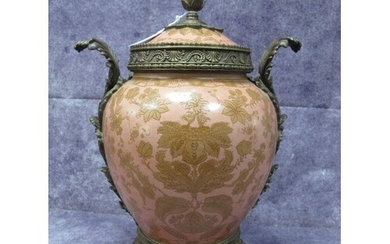 A William Lowe Ovoid Pottery Jar, with floral decoration on ...