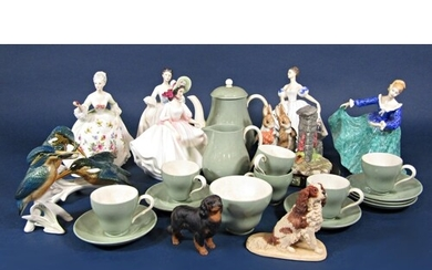 A collection of Royal Doulton figures - Genette HN3415, Sund...