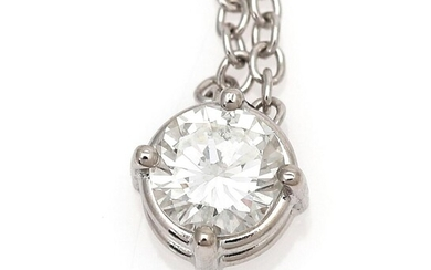 A diamond necklace with a pendant set with a brilliant-cut diamond weighing app. 0.48 ct., mounted in 18k white gold. L. app. 41 cm. – Bruun Rasmussen Auctioneers of Fine Art
