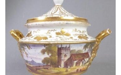 A good early to mid-19th century porcelain potpourri and cov...