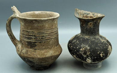 A pair of ancient ceramic vessels