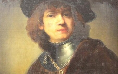 After Rembrandt van RIJN. Portrait of a young man with
