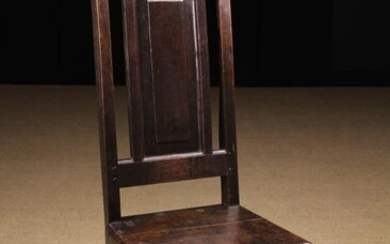 An Early 18th Century Joined Oak High-backed Side Chair....