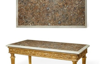 An Italian Neoclassical giltwood console table