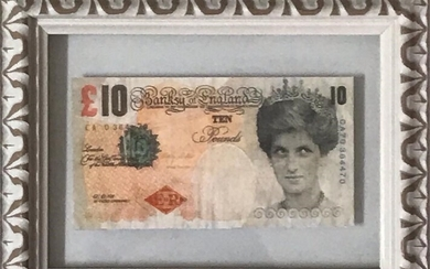 "Banksy ""Di-faced Tenner 10 Pounds"""