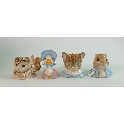 Beswick Beatrix Potter Character Jugs: Old Mr Brown, Peter R...