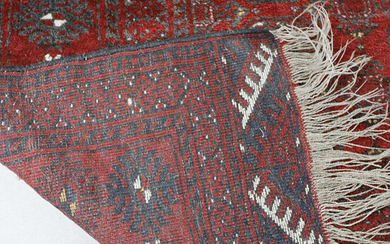 CARPET, oriental, hand-knotted, approx. 188 x 132 cm.