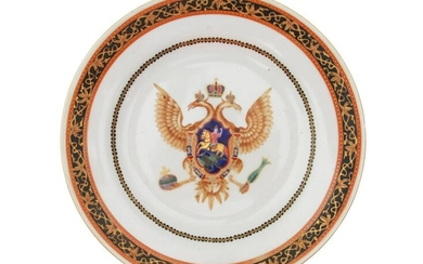 CHINESE EXPORT PORCELAIN PLATE FOR RUSSIAN MARKET
