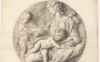 FILIPPO AGRICOLA (Rome, 1795 - 1857), ATTRIBUTED TO Seated female...