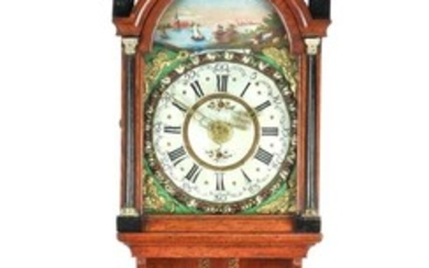(-), Frisian tail clock with group of statues...