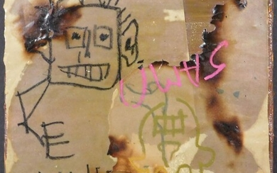 Jean-Michel Basquiat, Manner of: Collage with Two
