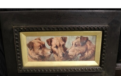 LOUISE KELSALL: Three terrier dog heads, two in profile and ...