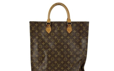 Louis Vuitton - Vintage Brown Monogram Canvas Sac Plat GM - Tote bag