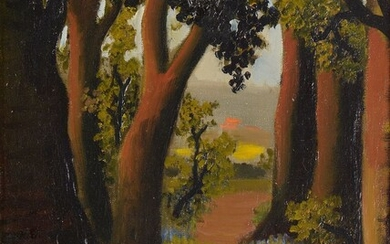 Madeleine Kula, known as LUKA (1894-1989)Walk in an undergrowth, circa 1930-40Oilon canvas.Signed lower right.35 x 27 cm