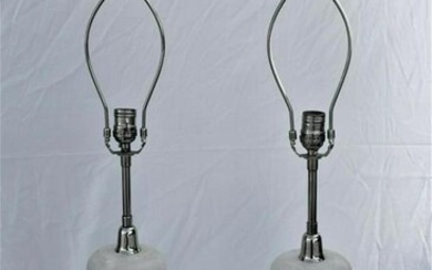 Mid Century Modern/deco style Alabaster Lamps
