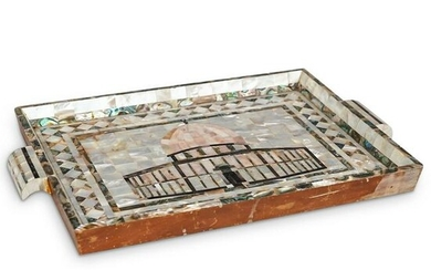 Mother of Pearl & Abalone Religious Tray