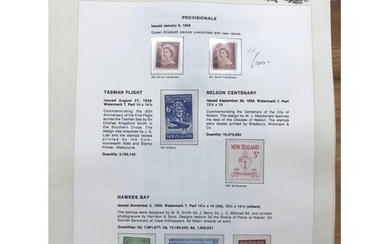 NEW ZEALAND all periods collection in 2 printed albums compr...