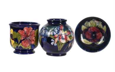 'Orchid and Spring Flowers' a large Walter Moorcroft vase