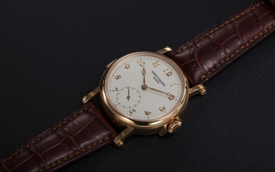 PATEK PHILIPPE, REF. 5029R, A RARE GOLD MINUTE REPEATING CHRONOMETER WRISTWATCH