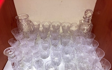 SECTION 11. A collection of cut glass stemware incorporating...