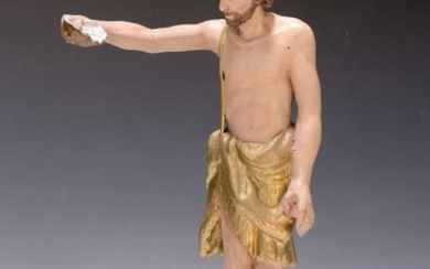 Sculpture of John the Baptist, Southern Germany, 1780,...