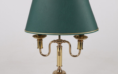 TABLE LAMP, bronzed metal / textile, English style, Dahlquist & Johansson, second half of the 20th century.
