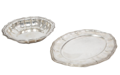 Two silver tray