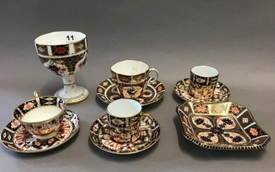 Various Crown Derby Imari, including a Small Dish, Goblet et...