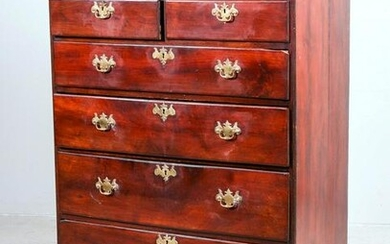 Walnut Chippendale high chest