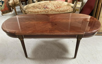 Wooden Oval Table