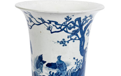 A Chinese Blue and White vase in the Kangxi style
